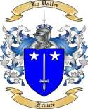 La Vallee Family Crest from France2