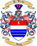 La Verda Family Coat of Arms from Italy