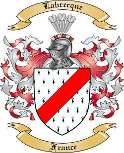 Labrecque Family Crest from France
