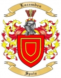 Lacambra Family Crest from Spain