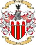 Lachini Family Crest from Italy