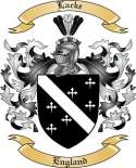 Lacke Family Crest from England