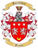Lacombes Family Crest from France