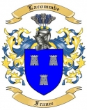 Lacommbe Family Coat of Arms from France2