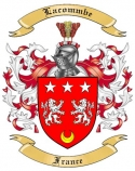 Lacommbe Family Coat of Arms from France