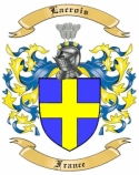 Lacrois Family Crest from France