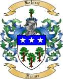 Laforet Family Crest from France