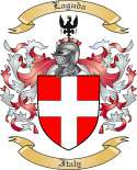 Laguda Family Crest from Italy