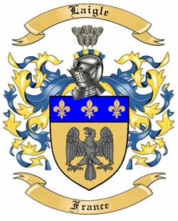 Laigle Family Coat of Arms from France