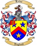 Laine Family Crest from England