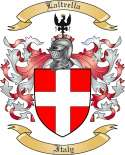 Laltrella Family Crest from Italy