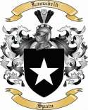 Lamadrid Family Crest from Spain
