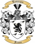 Lamarque Family Crest from France3
