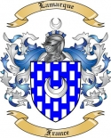 Lamarque Family Crest from France