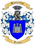 Lamartine Family Crest from France