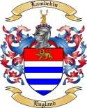 Lambekin Family Coat of Arms from England