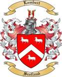 Lambert Family Coat of Arms from Scotland