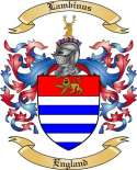 Lambinus Family Coat of Arms from England