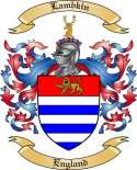 Lambkin Family Coat of Arms from England