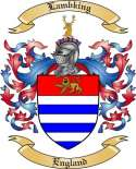 Lambking Family Crest from England