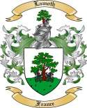 Lamoth Family Coat of Arms from France