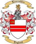 Lancashire Family Crest from England