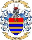 Lancke Family Coat of Arms from England