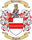 Lancoster Family Coat of Arms from England