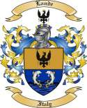 Lande Family Coat of Arms from Italy