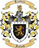 Landers Family Coat of Arms from Ireland