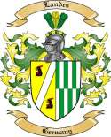 Landes Family Crest from Germany