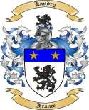 Landry Family Coat of Arms from France