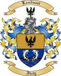 Landuzzi Family Crest from Italy
