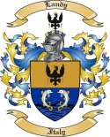 Landy Family Crest from Italy