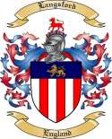 Langsford Family Coat of Arms from England