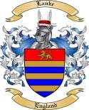 Lanke Family Crest from England