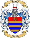 Lankin Family Crest from England