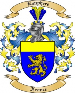 Lanphere Family Crest from France