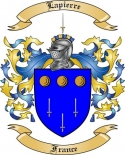 Lapierre Family Coat of Arms from France
