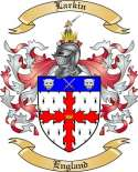 Larkin Family Crest from England