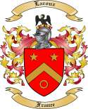 Laroux Family Coat of Arms from France