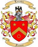 Larowe Family Coat of Arms from France