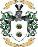 Larras Family Crest from Spain