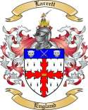 Larrett Family Coat of Arms from England