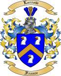 Larrow Family Coat of Arms from France