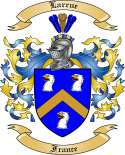 Larrue Family Coat of Arms from France