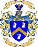 Larrue Family Crest from France