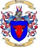 Larsen Family Crest from Denmark