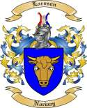 Larsson Family Crest from Norway