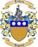 Lathom Family Crest from England